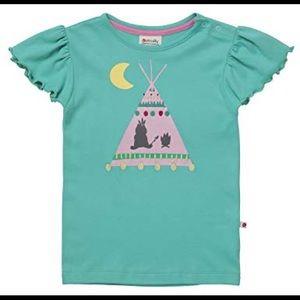 NWT Ruum Girls Size 3 Years 4 Years 3T 4T Colorful Fleece Raglan Crew Shirt Top
